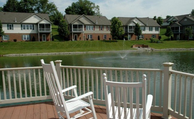 Meadows pond deck