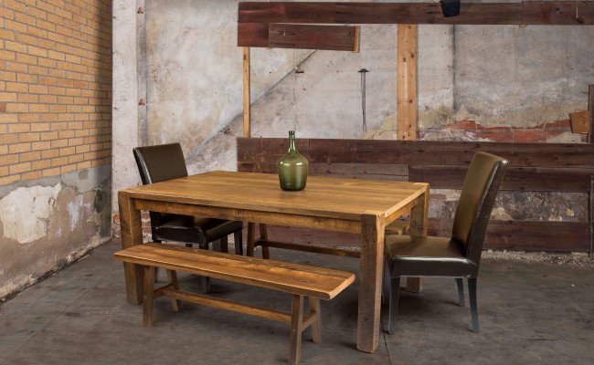 Barn Wood Table and Bench