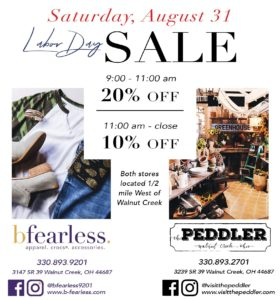 bfearless peddler labor day sale