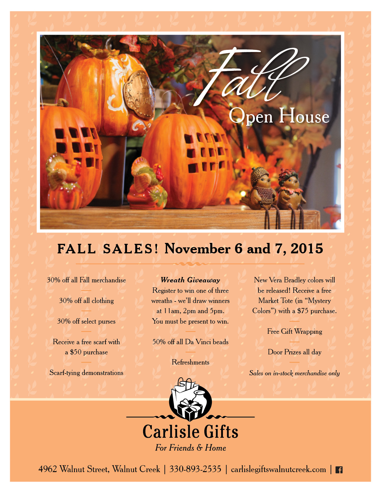 Carlisle Gifts' Fall Open House