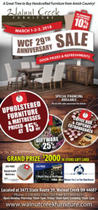 Walnut Creek Furniture Anniversary Sale