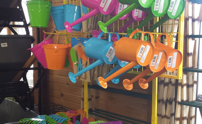 Watering Cans and Garden Tools