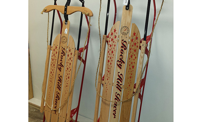 Old-fashioned Wooden Sleds