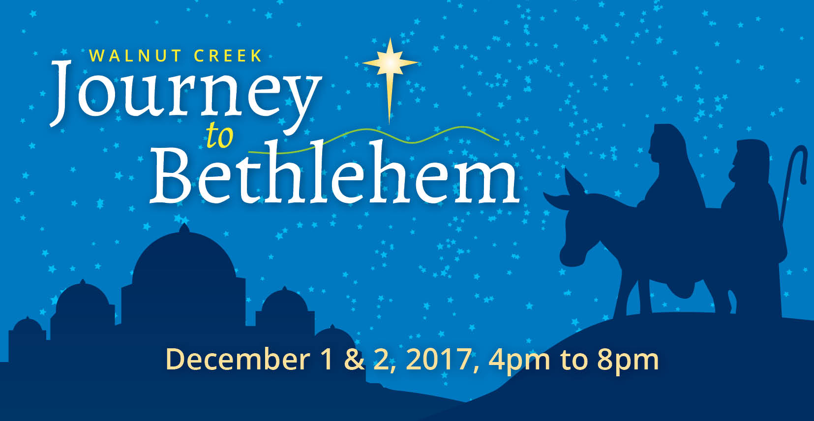Seven dramatic stops depicting the Biblical Christmas Story.
