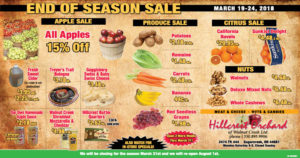 End of Season Sale at Hillcrest Orchard