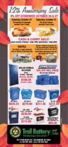 Trail & Solar Battery Anniversary Sale