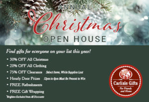 Carlisle Gifts Christmas Open House