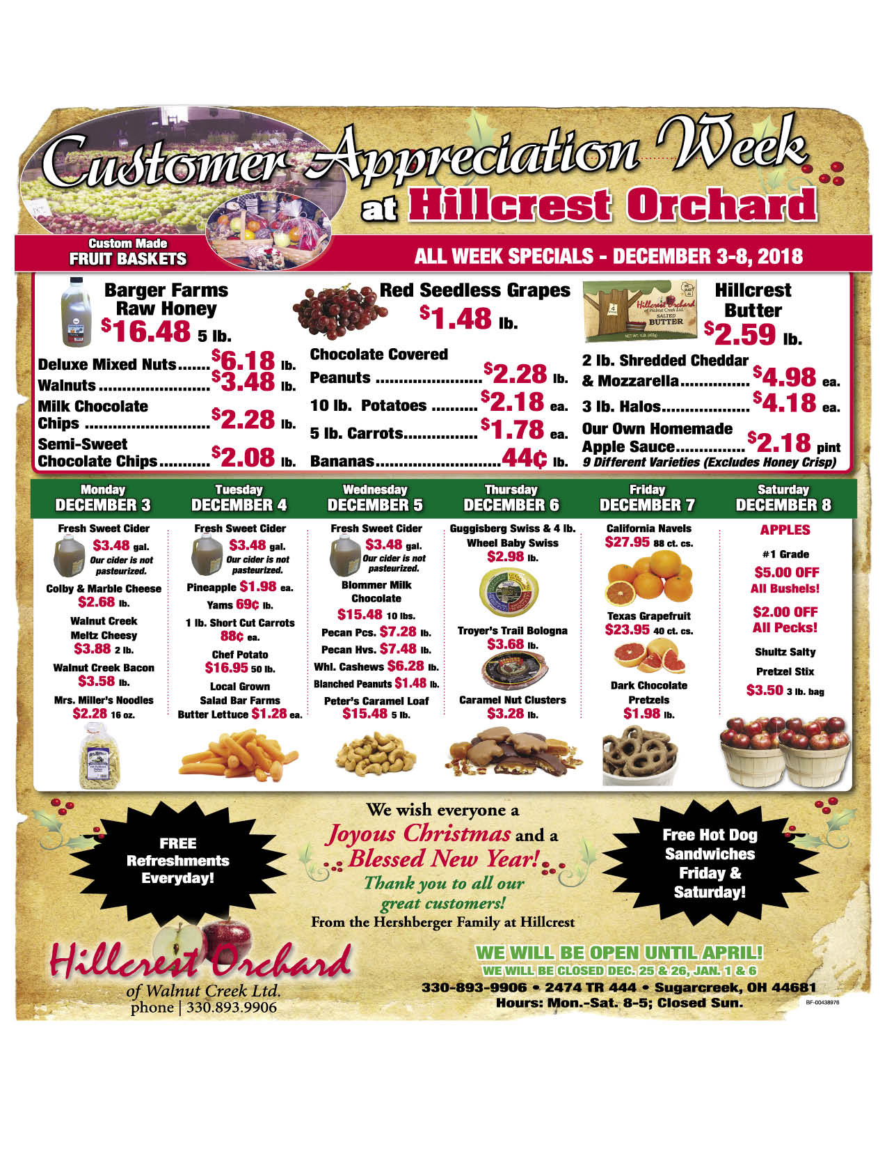 Hillcrest Customer Appreciation Sale