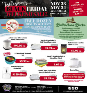 Walnut Creek Cheese Black Friday 2018