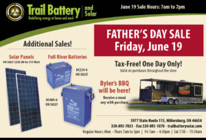 Father's Day Sale at Trail Battery and Solar